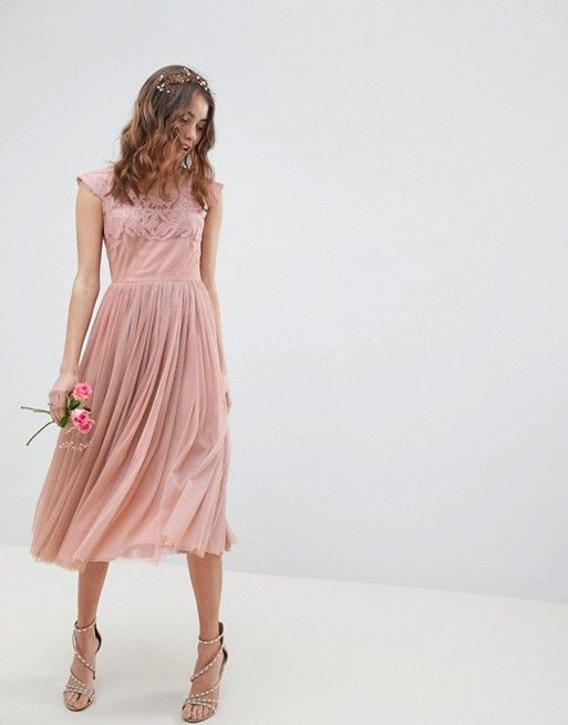 picked up big selection of 2019 fast color DESIGN Embroidered Mesh Midi Dress in 2019 | Event Dresses ...