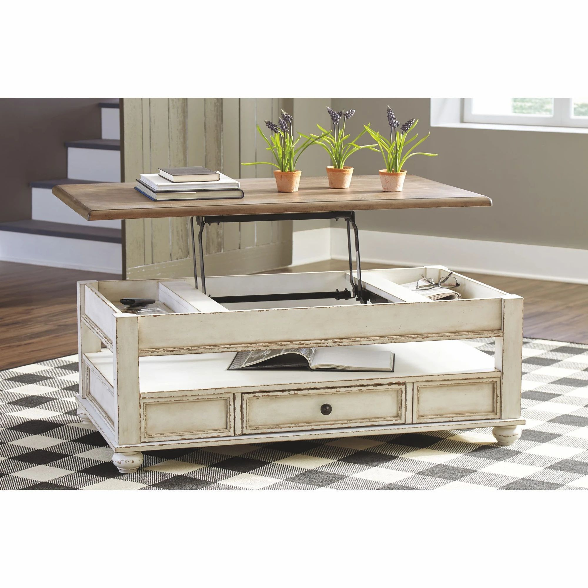 Allison Coffee Table White Brown In 2021 Coffee Table Coffee Table White Coffee Table With Storage [ 2000 x 2000 Pixel ]