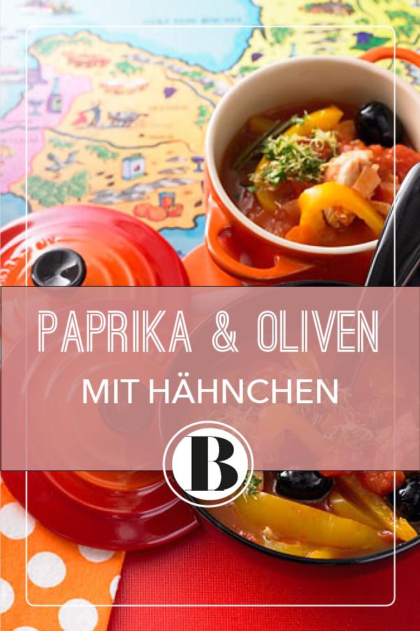 Spanisches Hähnchen mit Paprika und Oliven | Rezept | Spanische ...