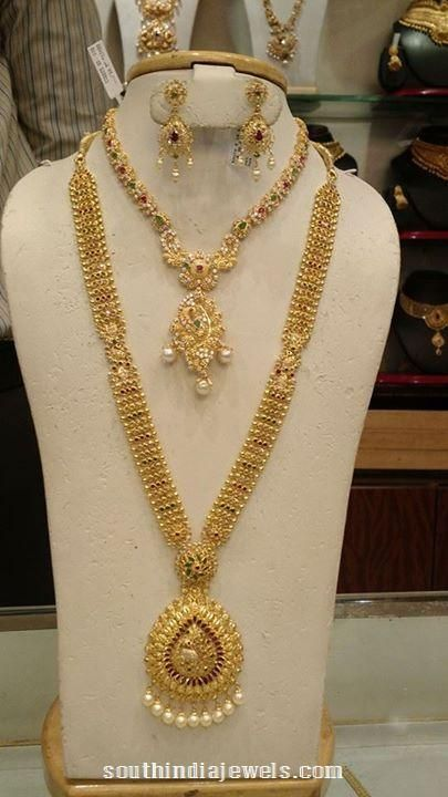 Gold Bridal Jewellery Set Long Necklace Collections