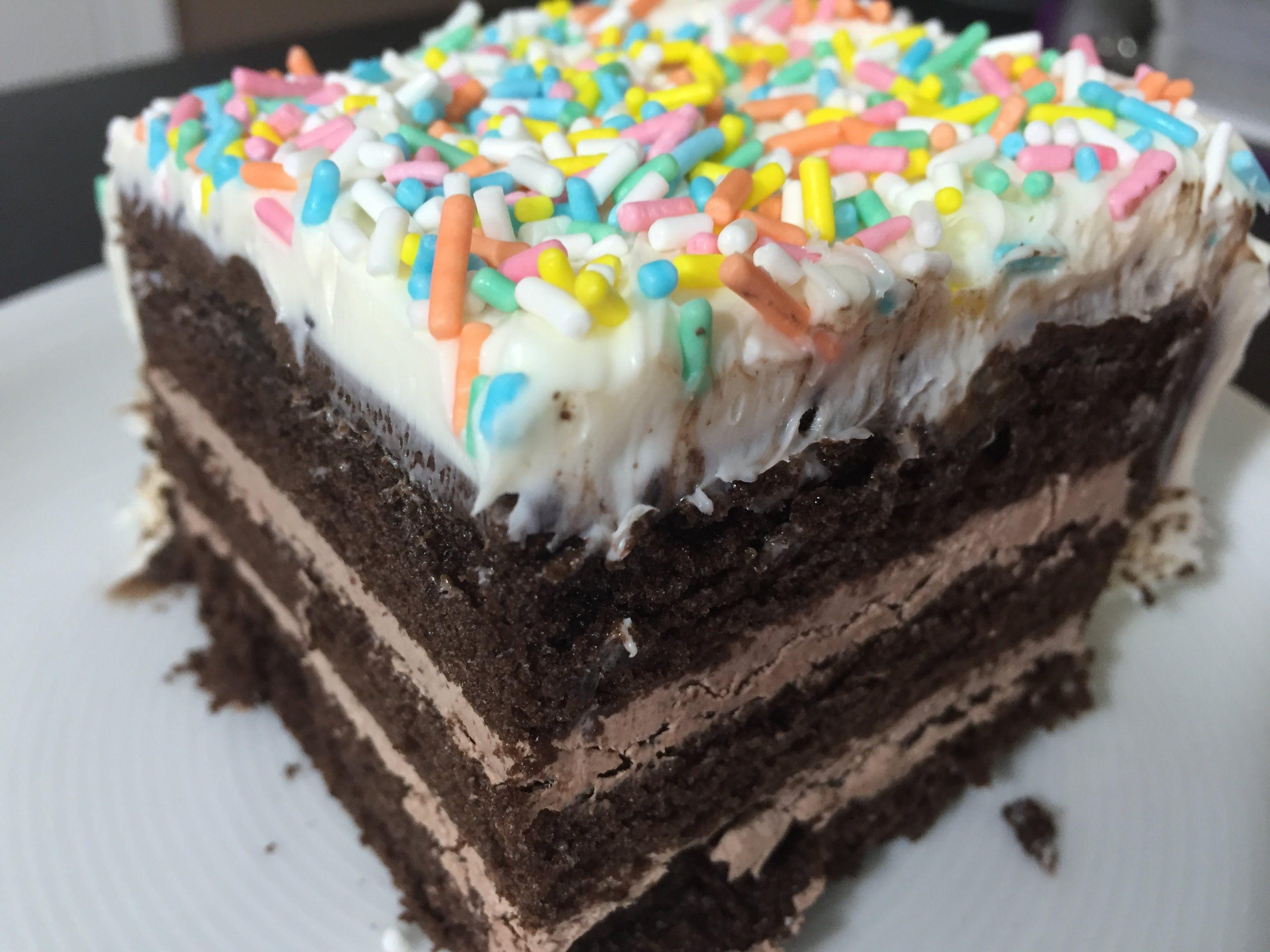 Mukbang Chocolate Cake