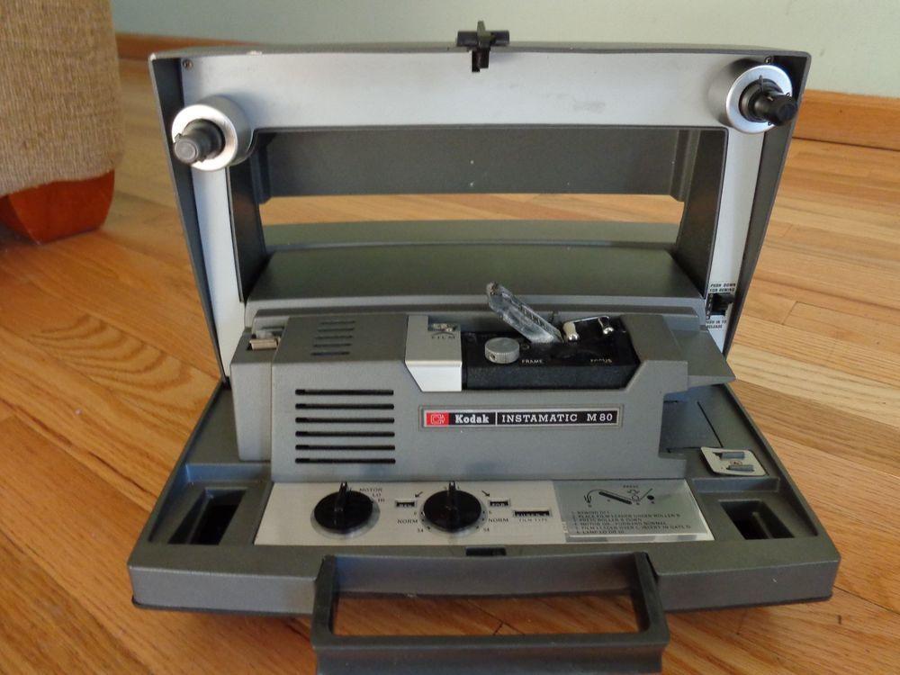 vintage 8mm kodak instamatic m80 super 8 movie projector kodak rh pinterest co uk