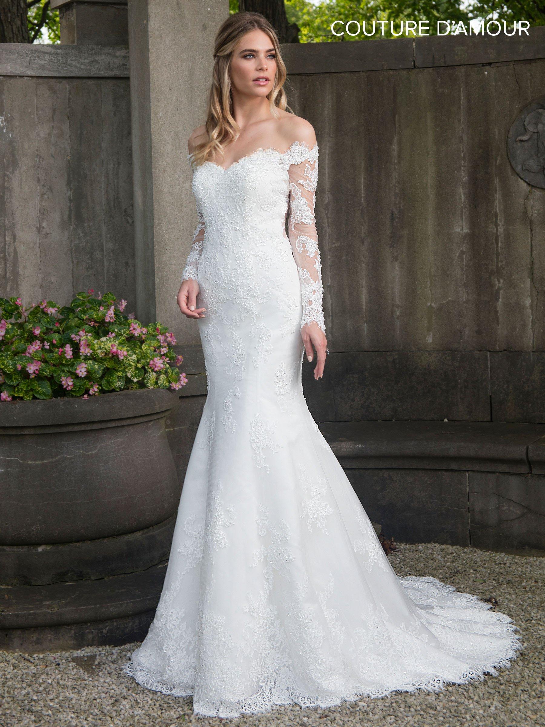 Off the shoulder mermaid wedding dress by maryus bridal mb ekkor
