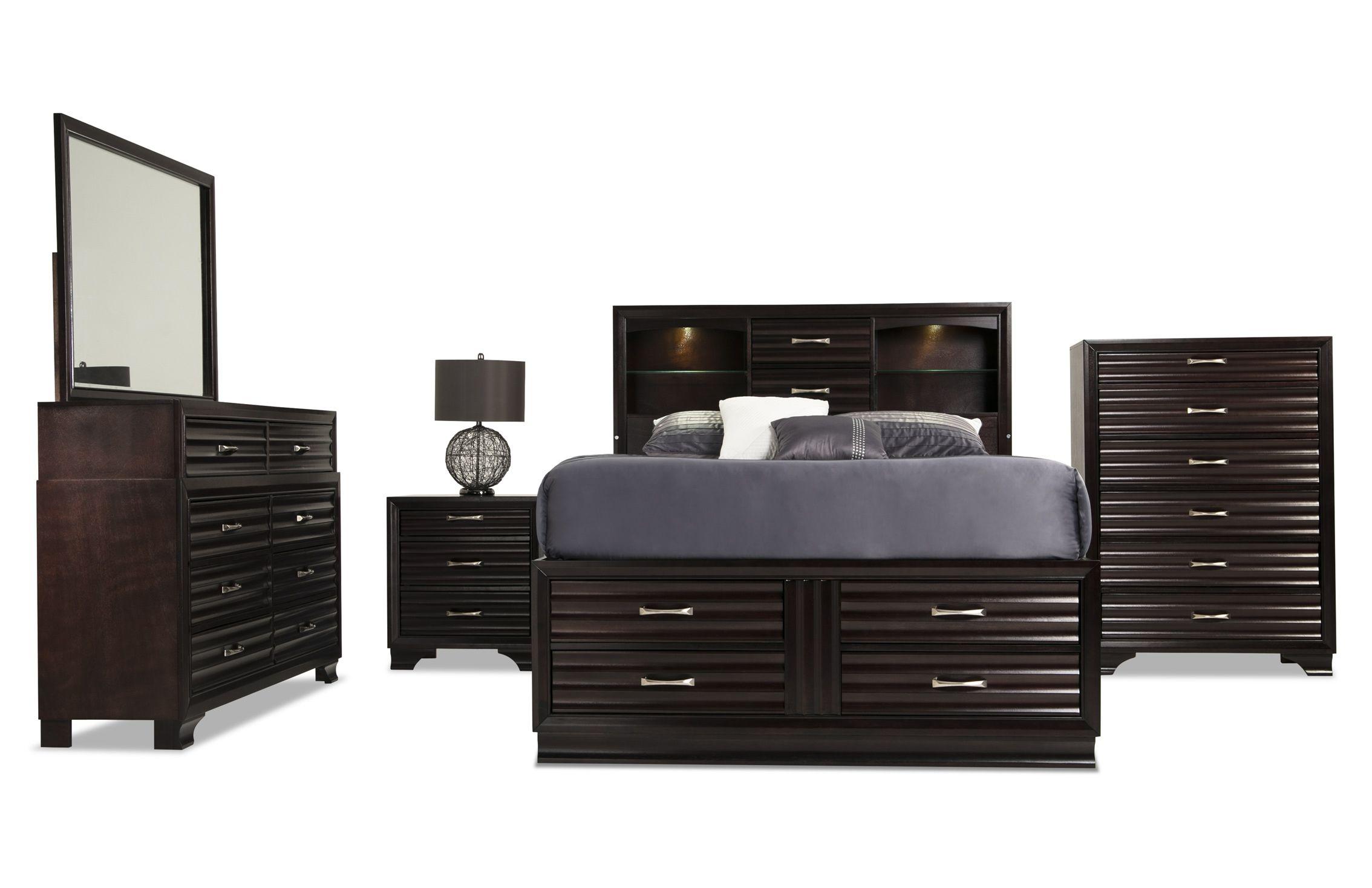 Midtown Storage Bedroom Set Storage Furniture Bedroom