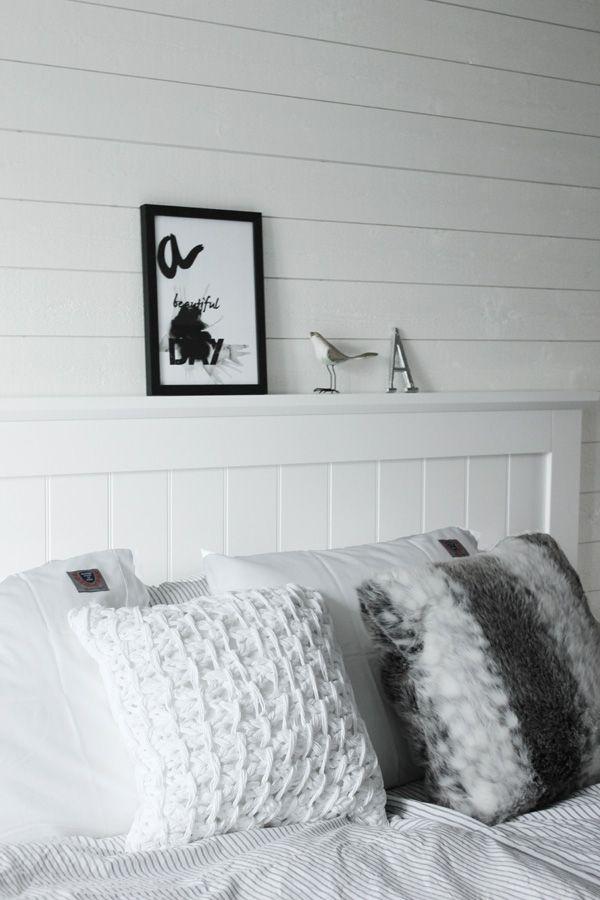 Sovrum i vitt och grått Eightmood påslakan print, sprints, artprint, svartvit print, tavla