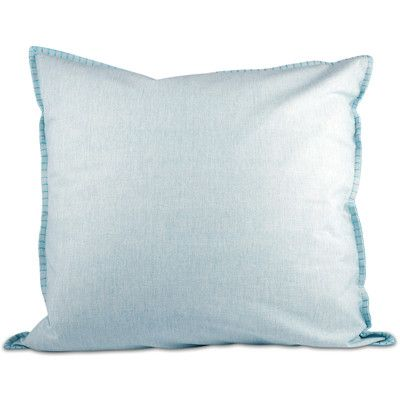 Fox Hill Trading Chambray Throw Pillow Color: Blue