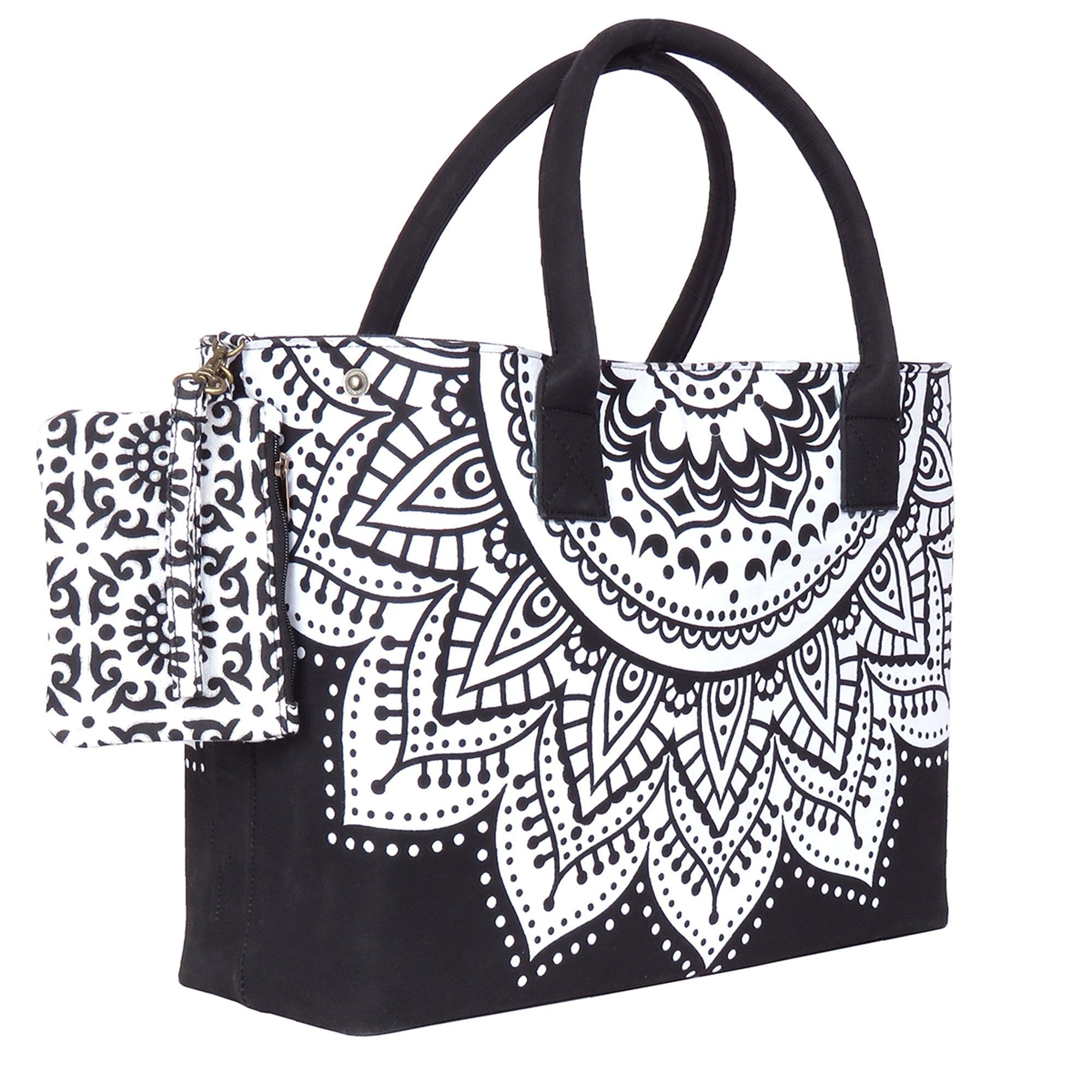 united states hot product 2018 shoes Black and White Trendy Beach Bag for perfect beach Holiday ...
