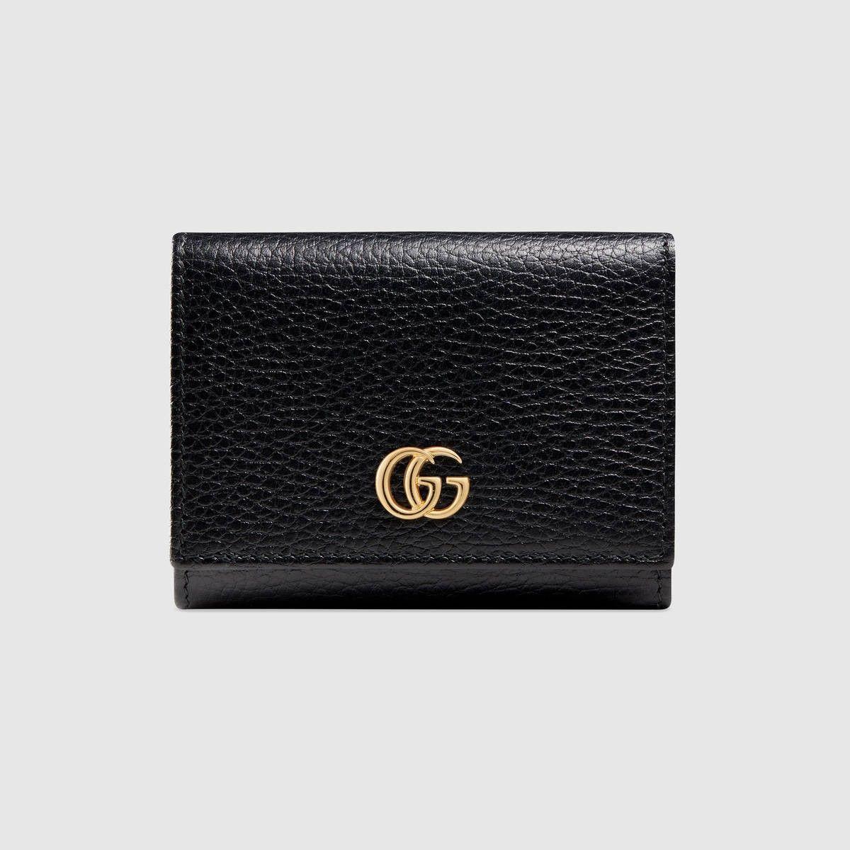 3dc251e6ed53 GUCCI Gg Marmont Leather Wallet - Black Leather. #gucci #all | Gucci
