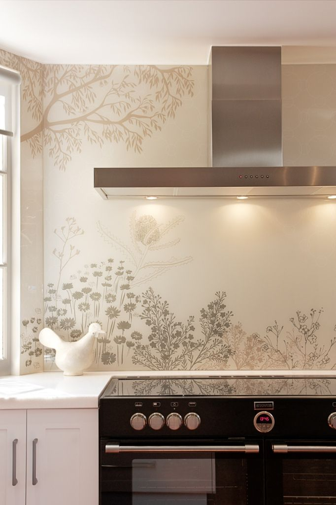 Amazing full height printed glass splashback for a client in the ...