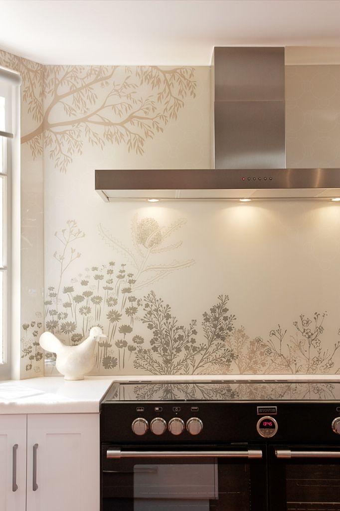 Best 25 printed glass splashbacks ideas on pinterest for Cheap kitchen splashback ideas