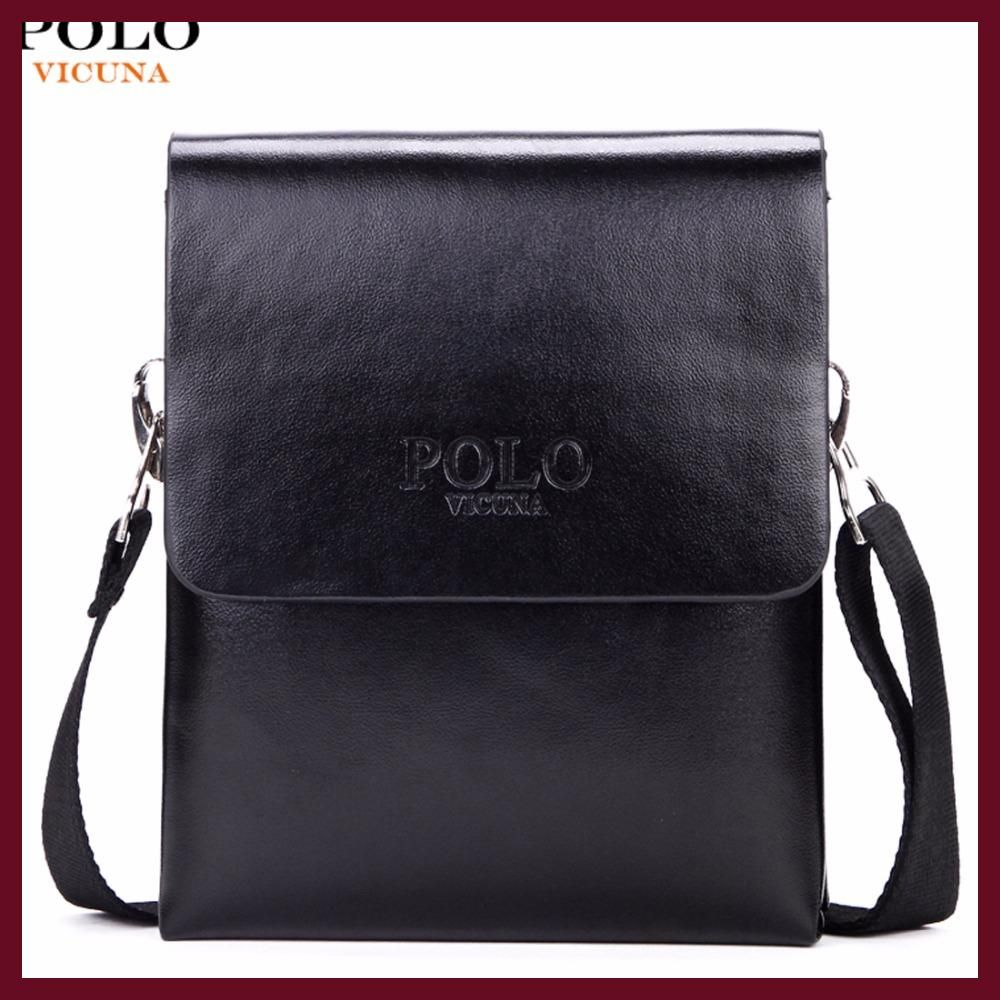 bb593c1ca VICUNA POLO Hot Sell Brand Solid Double Pocket Soft Leather Men Messenger  Bag Small 2 Layer Mens Travel Bag Mens Bag For Phone