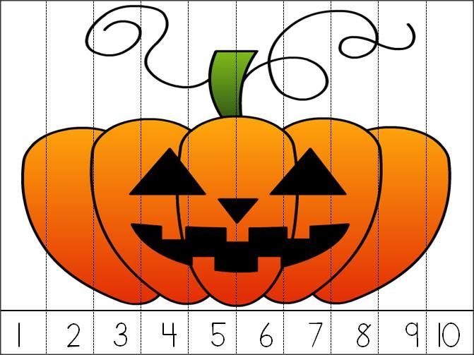Halloween Jack-o-lantern Math Puzzle