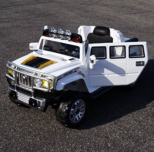 Exclusive Kids 12v Style H3 Hummer Battery Operated Ride On Car With Remote Controlopening Doorsfunctional Lightsmp3white Hummer Car Hummer H2