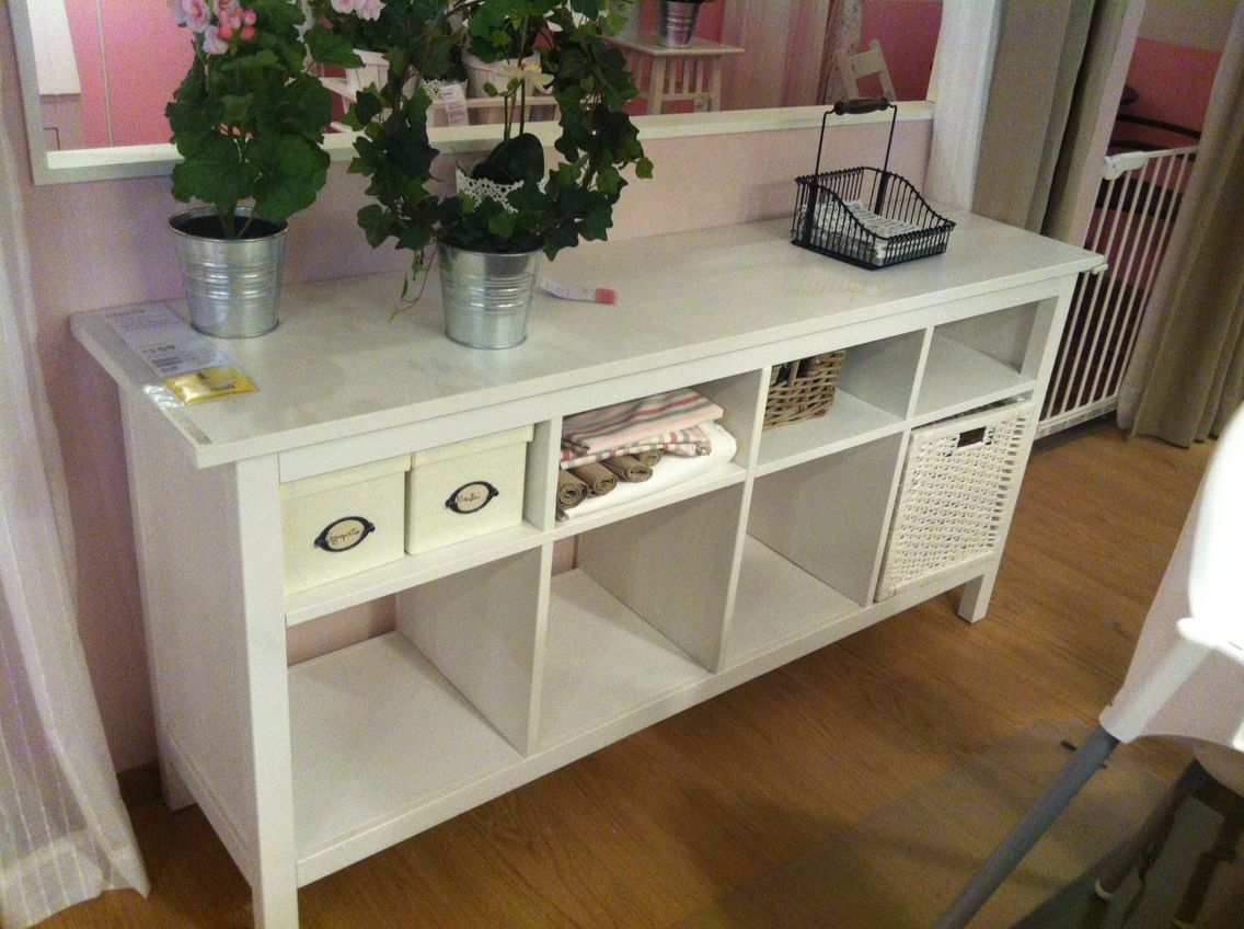 Tavolo consolle hemnes ikea for the home pinterest for Consolle bianca ikea