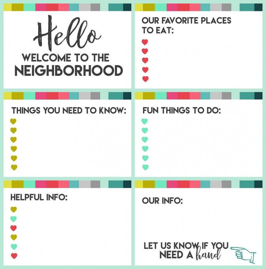 New Neighbor Welcome Gift With Printable  Gift Free Printables
