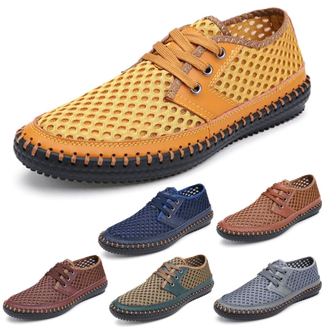 41e31e163cf41e Mens loafers 男懶人鞋 套腳鞋 Real leather Sneakers Breathable Lace up Oxford Shoes  CN size 38-48 BM56