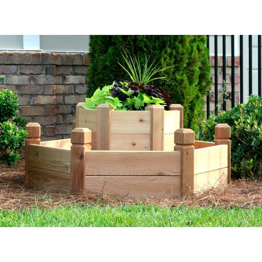 Natural Cedar Raised Garden Beds: Natural Cedar Hexagon Raised Garden Beds
