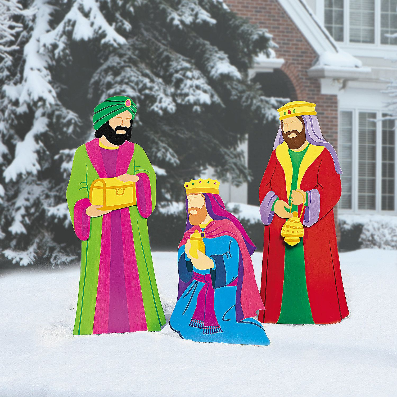 Yard Nativity Scene