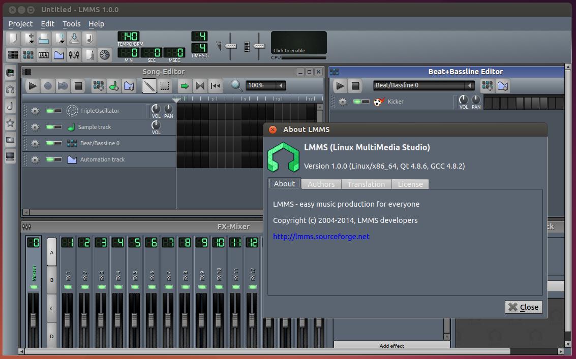Create Music Using Linux Multimedia Studio Lmms