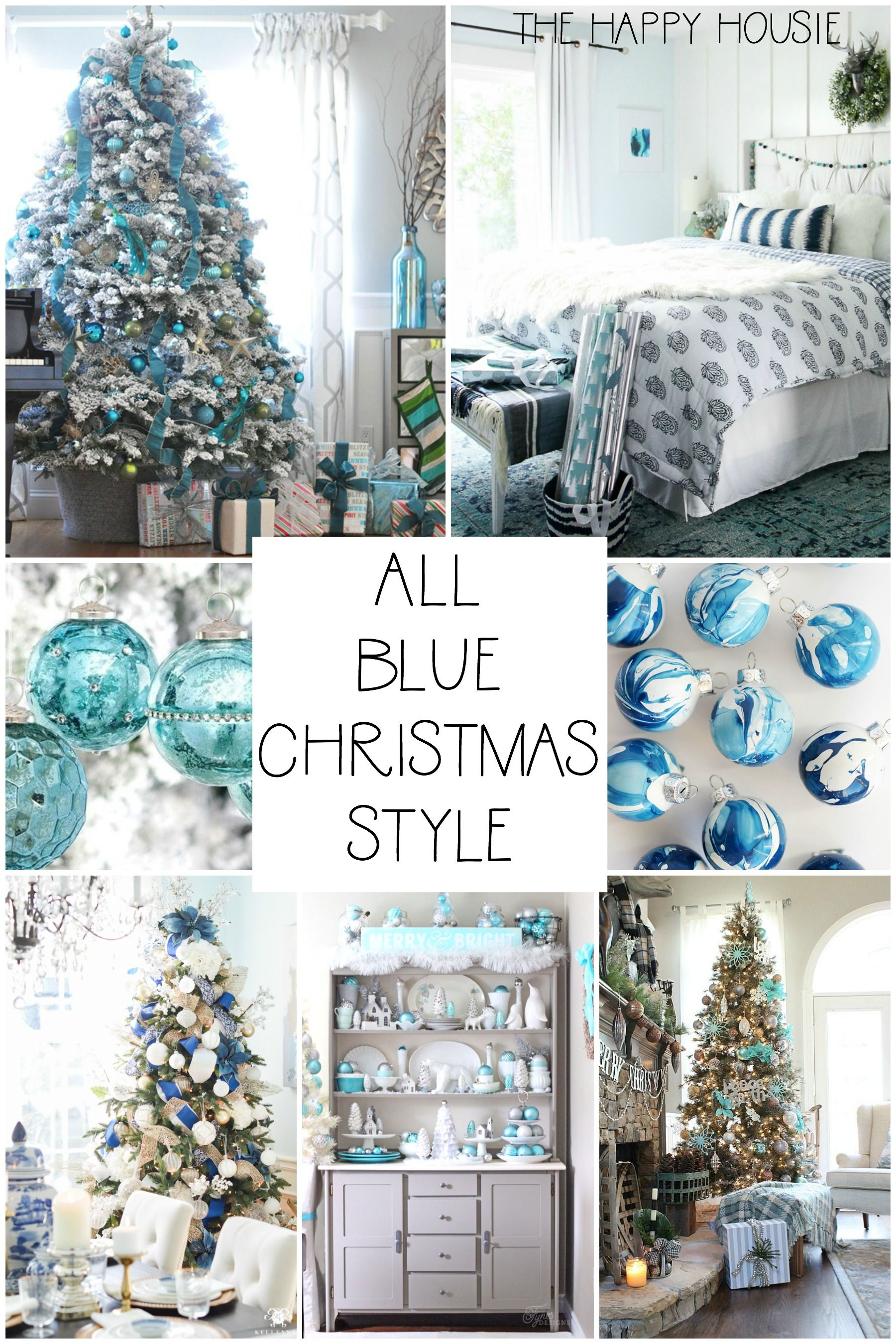 A Blue Blue Christmas Style Series | The Happy Housie -   17 christmas tree decor 2020 blue ideas