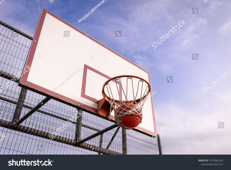 Telsiailithuania08072019 Basketball Board Basket Hoop Against Royalty Free Image Photo In 2020 Stock Photos Image Photo Image