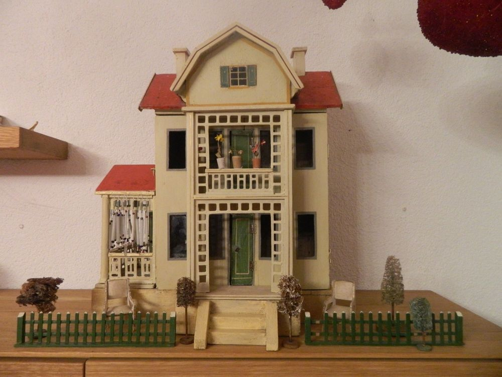 Moritz Gottschalk Doll House With Gottschalk Gottschalk Furniture 1913 Ebay Dollhouse Dolls Antique Dollhouse Holiday Decor