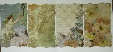 4 Shabby Chic Fairy Victorian Binder planner divider pages  Fit Filofax Personal FF5