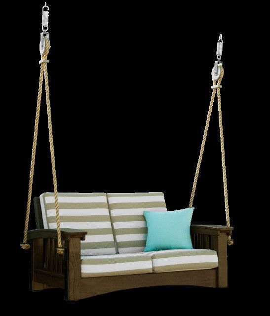 Mission Style Deep Seating Cypress Porch Swing With Cushions Porch Swing Cushions Porch Swing Porch