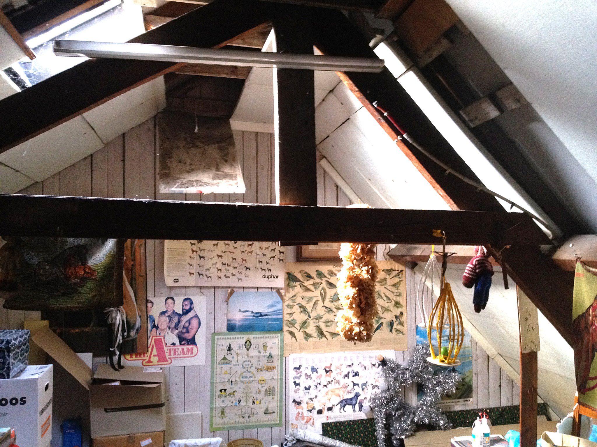 Bestaande situatie zolderverdieping gebruikt als bergzolder