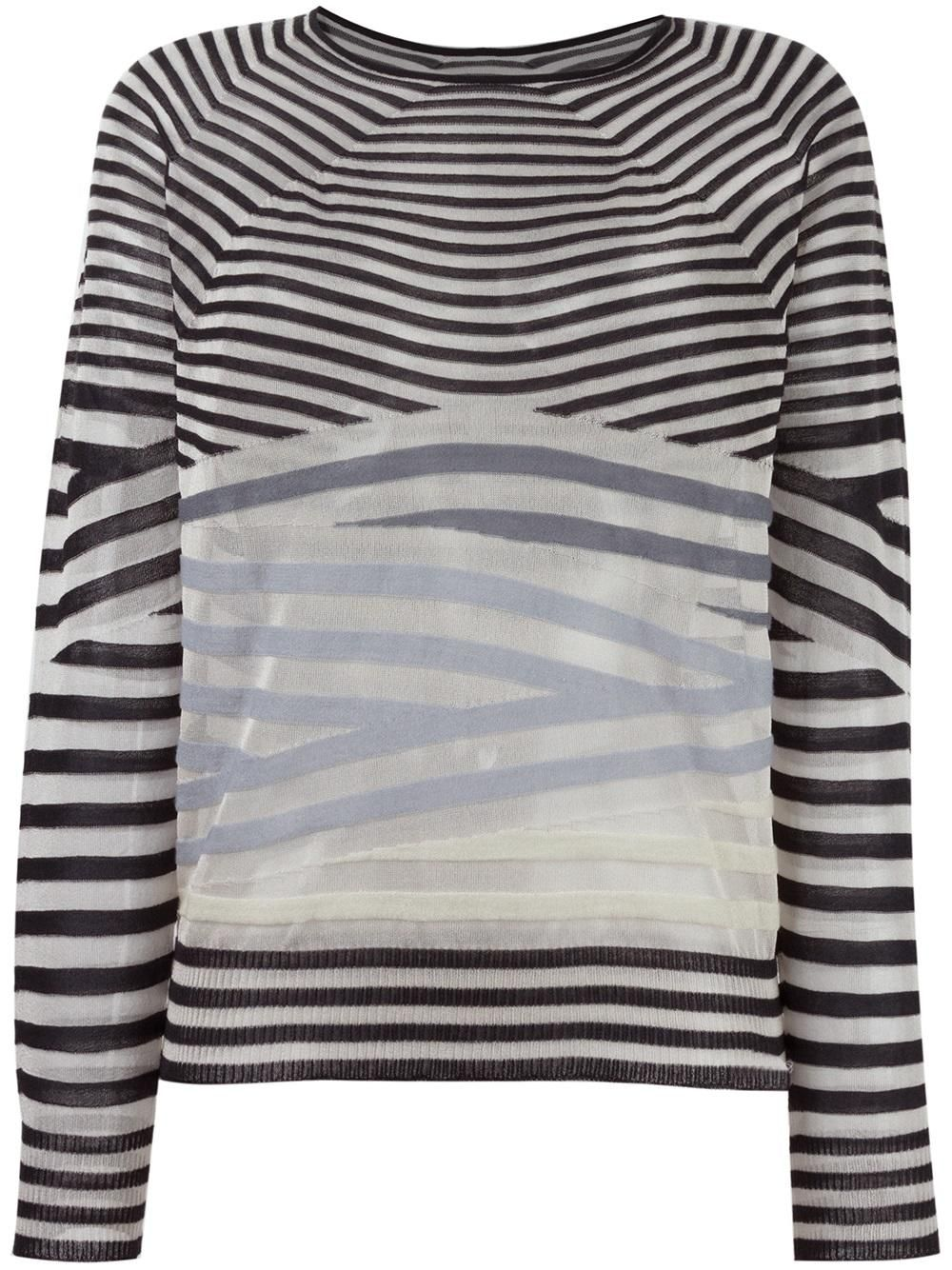 Outlet Ebay New For Sale striped knitted top - Black Giorgio Armani Cheap Sale Really I0Pk8o