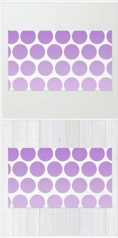 Purple Polka Dot Rug - Floor rug - Room Rug - Bathroom Rug - Throw Rug - Polka Dots Purple - Made to Order