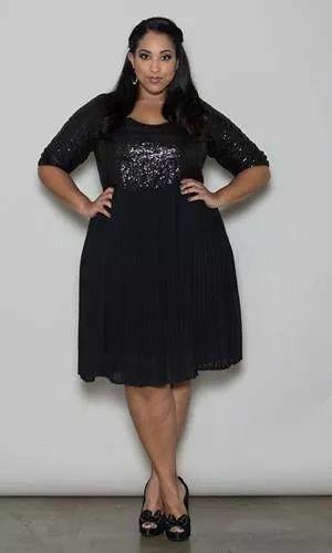 Bbw black dress