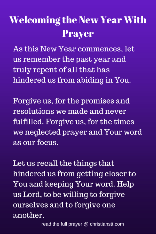 Prayers To Welcome The New Year 2020 Christianstt New Years Prayer Prayers Happy New Year 2019
