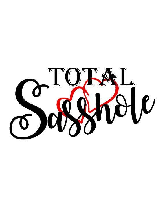 total sasshole svg instant download digital cutting file