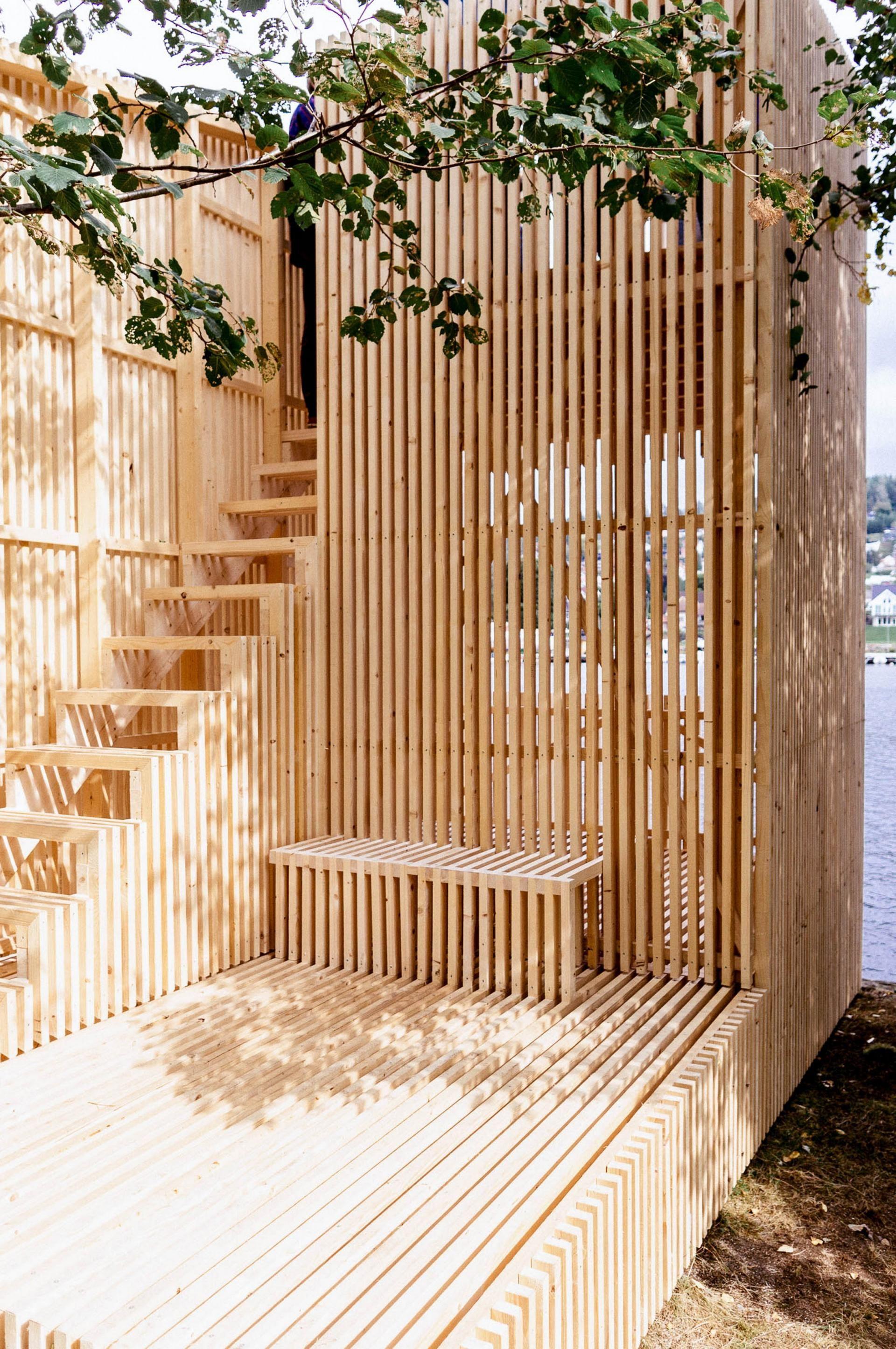 Gjennomsikten Kolab Arkitekter As Archello Wooden Terrace Wood Architecture Architecture
