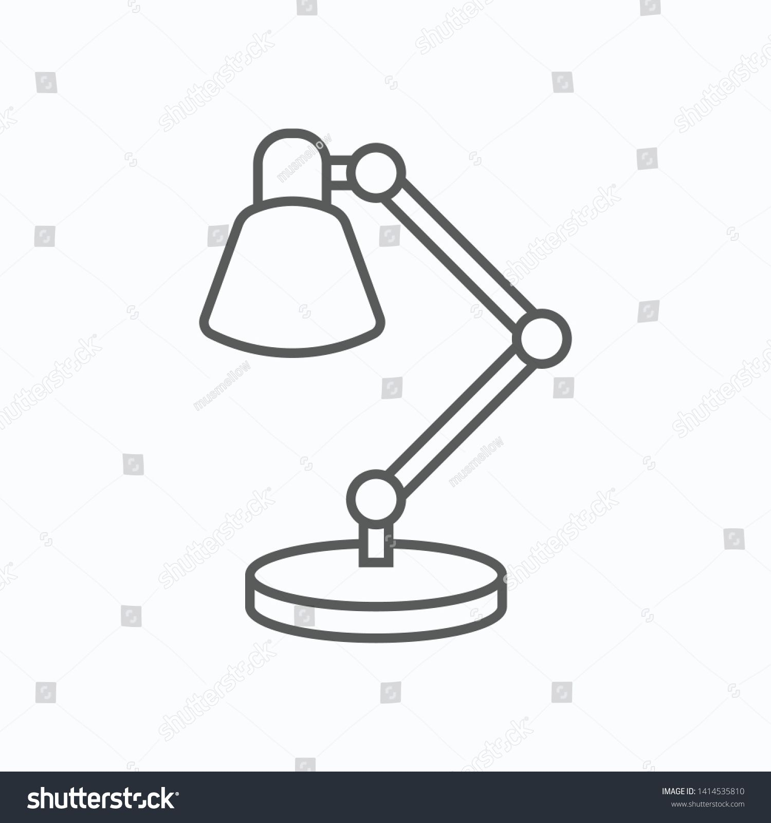Desk Lamp Icon Table Lamp Vector Ad Paid Lamp Desk Icon Vector In 2020 Lamp Desk Lamp Table Lamp