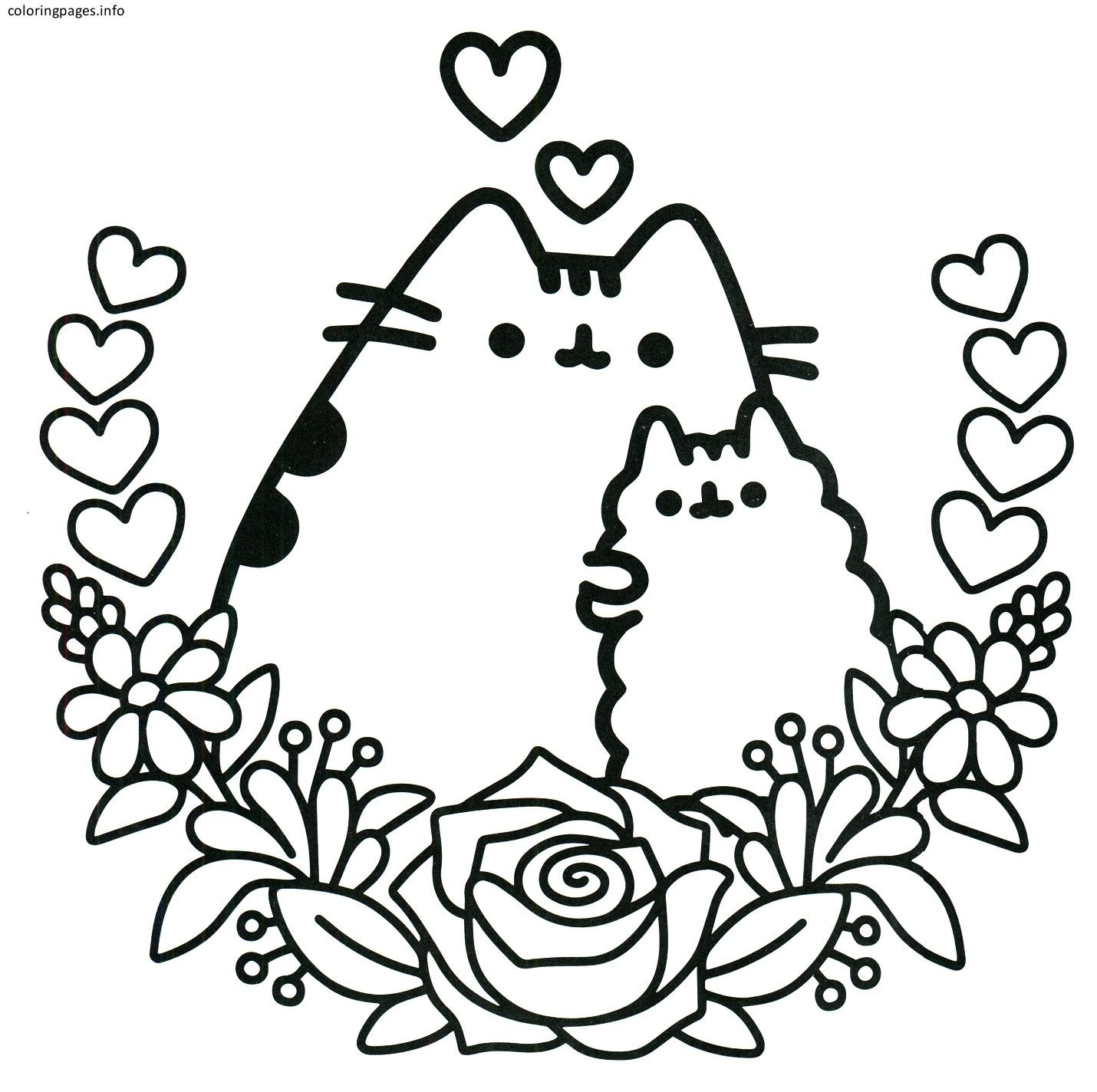 Selected Coloring Pages Of Nyan Cat Pusheen Best Pdf Free