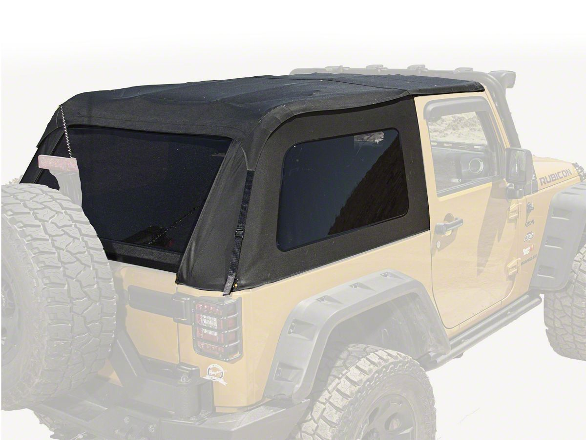Rugged Ridge Bowless Top Black Diamond 07 17 Wrangler Jk 2 Door