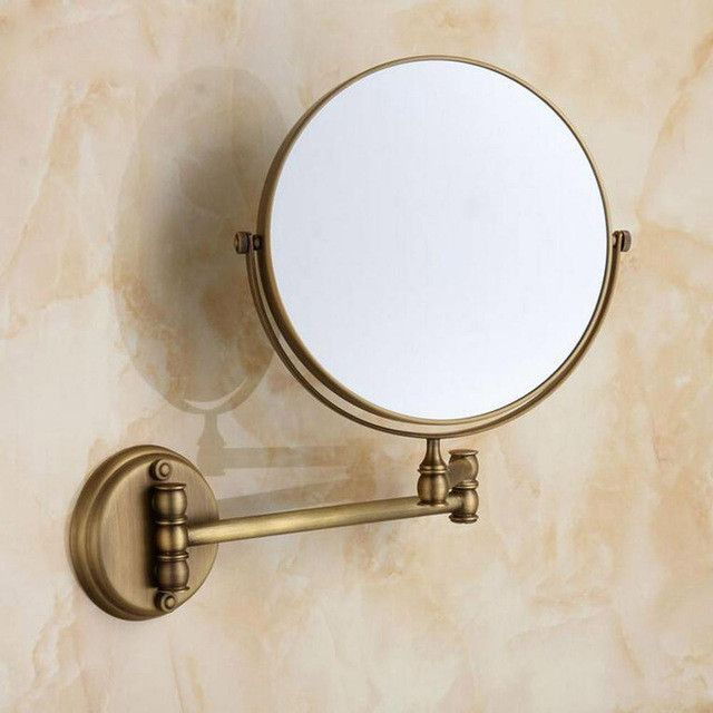 "Antique/Golden 8"" Double Side 1:1 and 1:3 magnifier Copper Cosmetic Bathroom Double Faced Bath Mirror wall mirror 7018B-17018G-1"