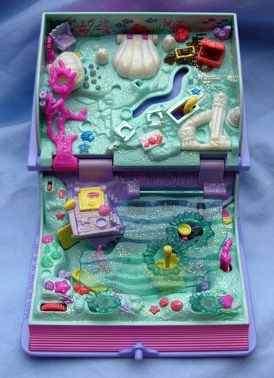 Mermaid Polly Pocket Folded To Look Like A Book Still Have This Polly Pocket Childhood Toys Childhood