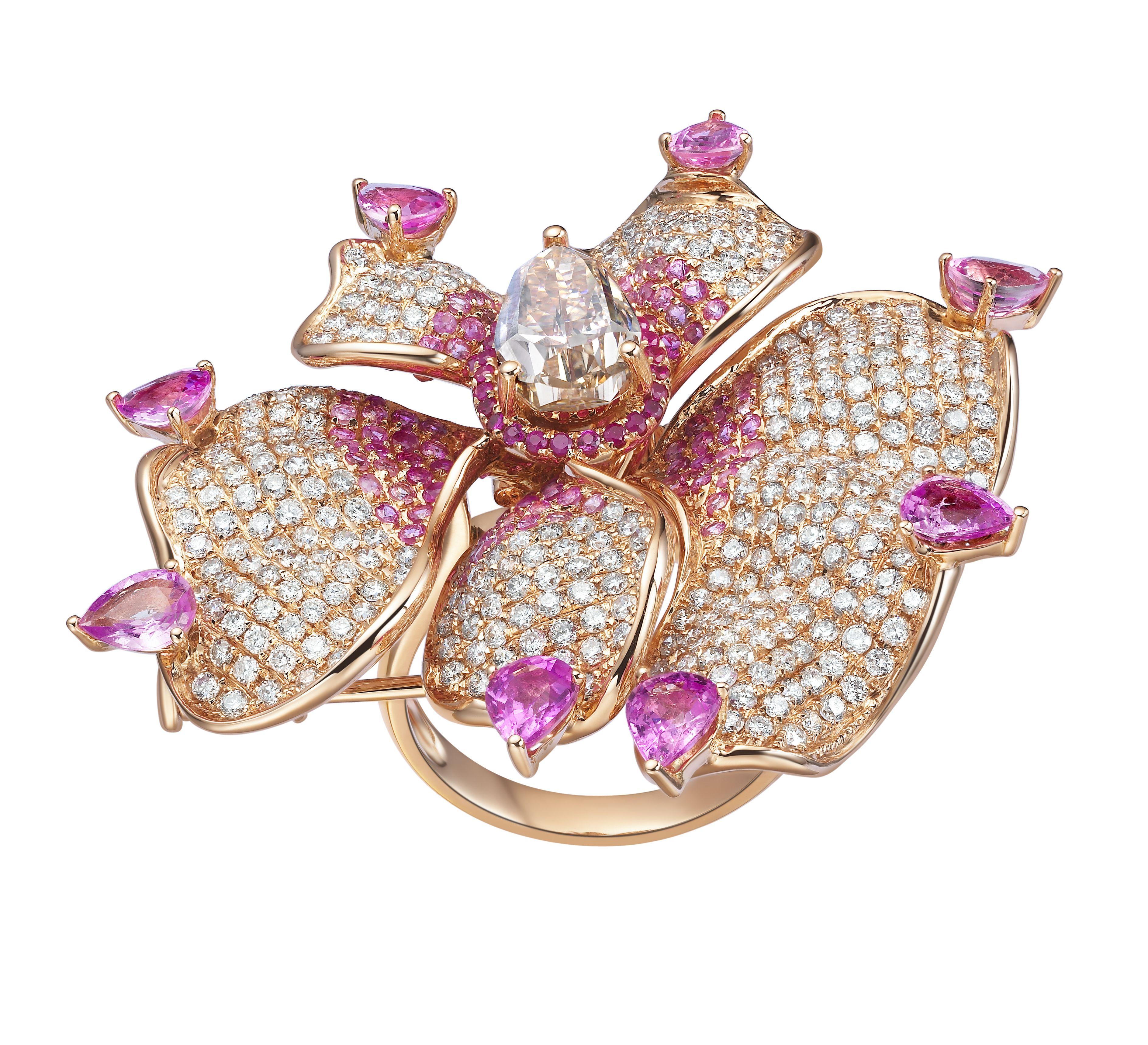 Orchid flower ring & brooch by Fei Liu | Cool Jewelry | Pinterest ...