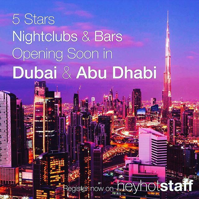 Hiring for new bars and clubs in dubai and Abu Dhabi