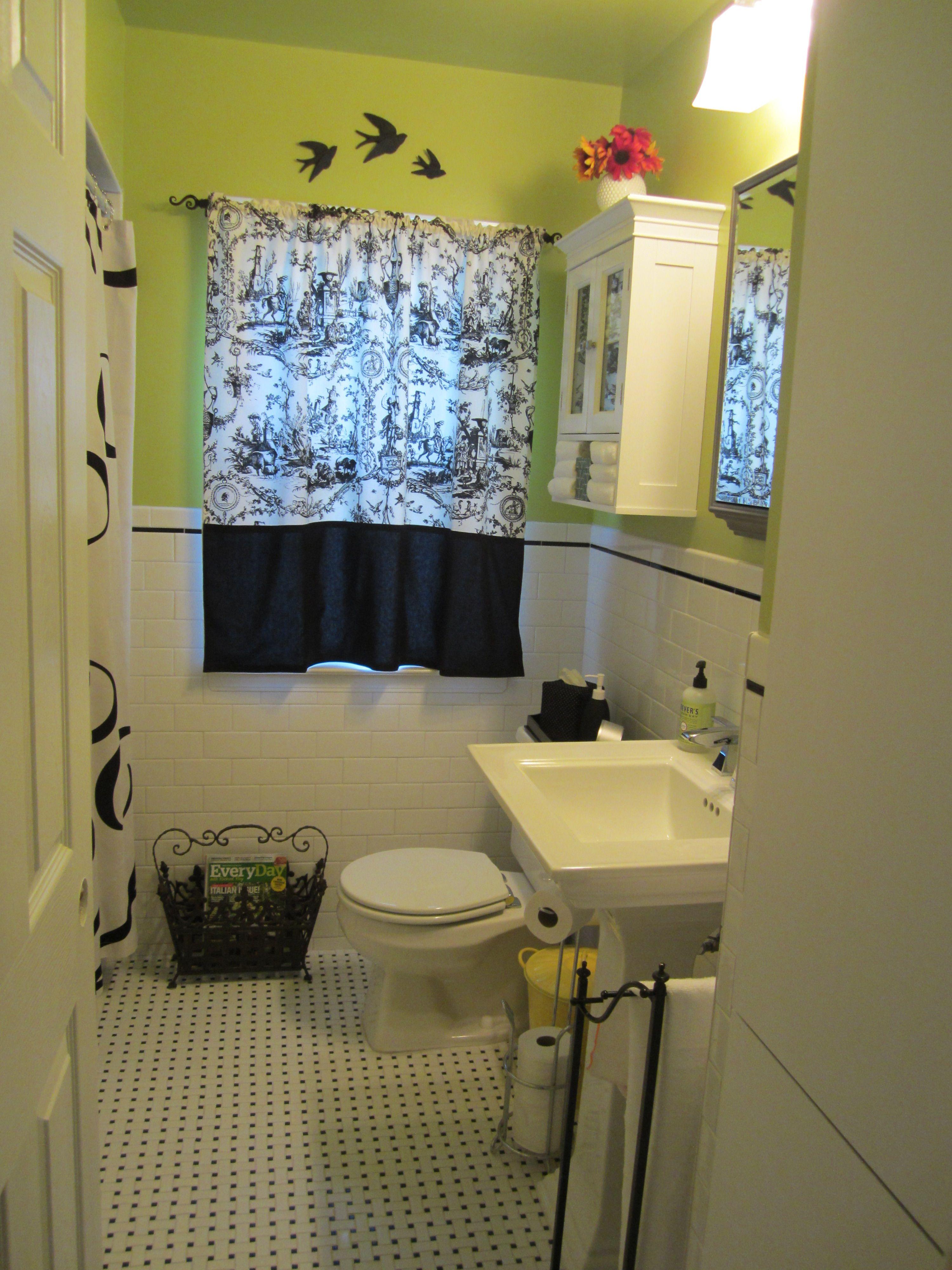 master bath idea paint back wall green use black and