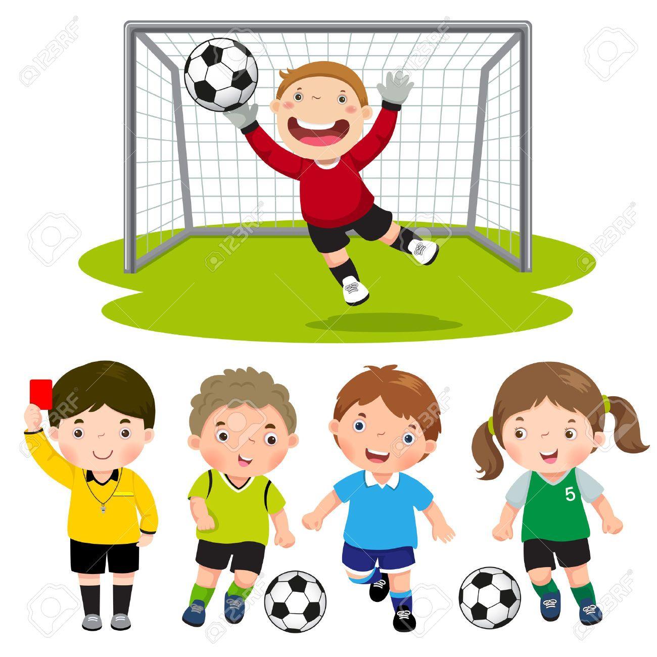 Resultado De Imagen Para Dibujos De Ninos Jugando Futbol A Color