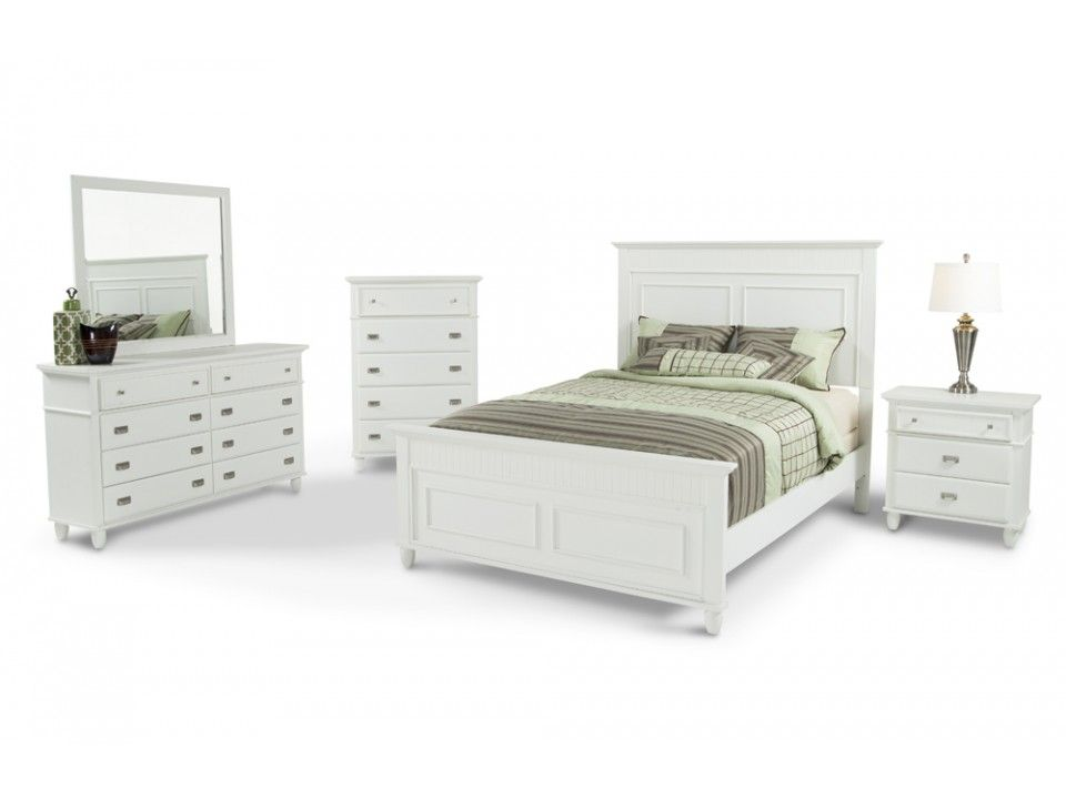 Spencer 8 Piece Queen Bedroom Set White Bedroom Set Bedroom Sets Queen Bedroom Set