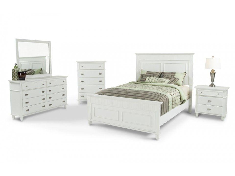 Spencer 8 Piece Queen Set Bob S Discount Furniture White