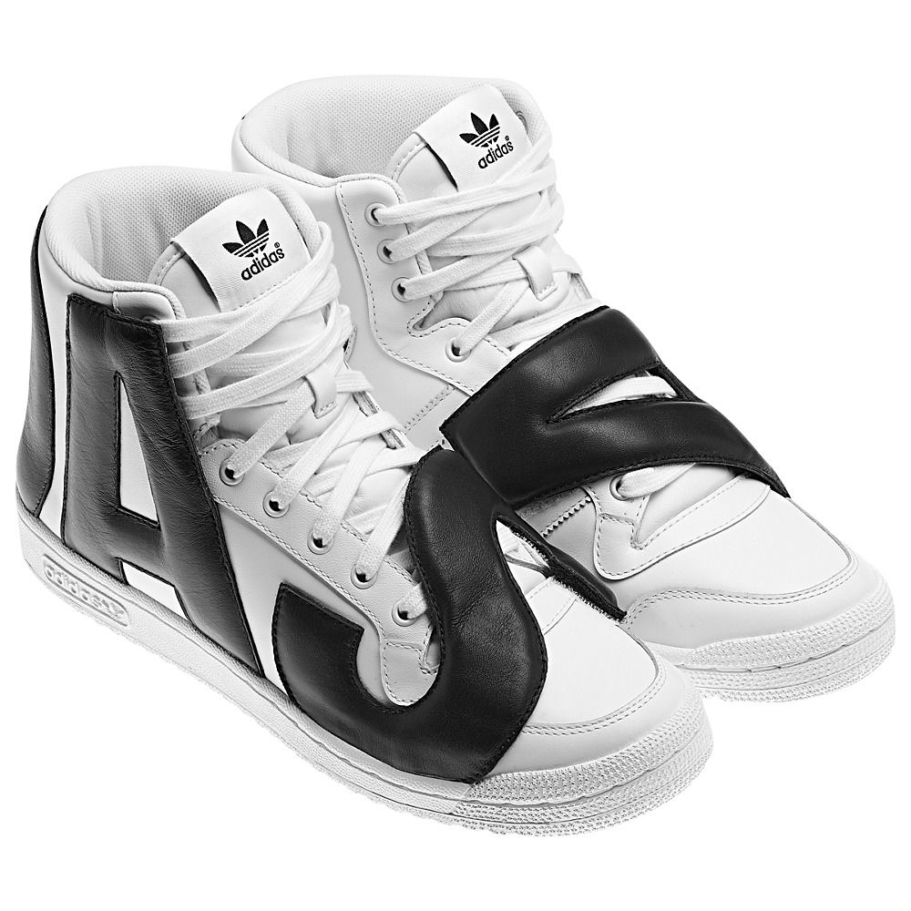 check out bedc9 9df2b adidas-Jeremy-Scott-Letters-Shoes-Running-White-Black-