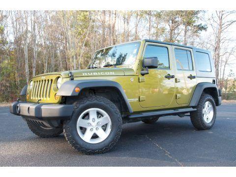 2007 Rescue Green Metallic Jeep Wrangler Unlimited Rubicon 4x4