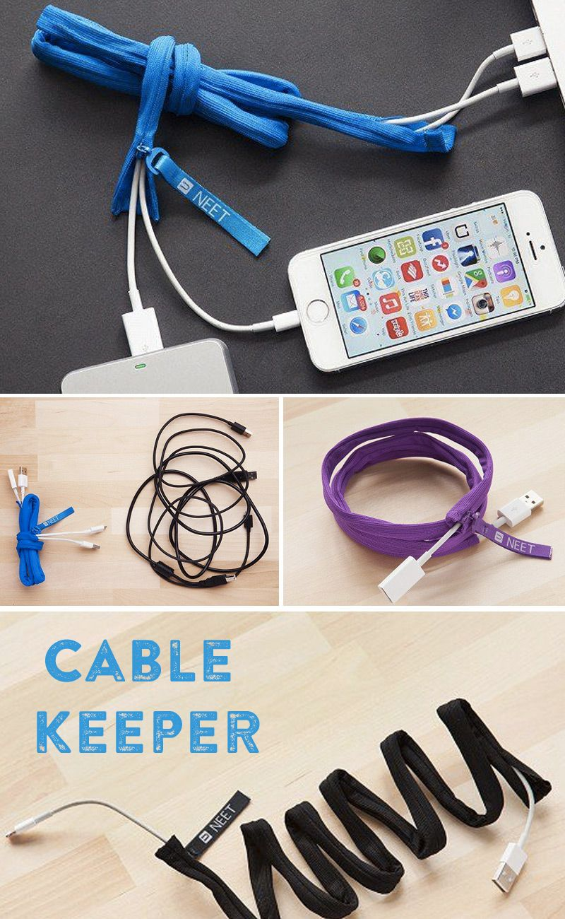 Keep Your Phone Chargers Headphones And Other Cables Organized Untangled With The Neet Cable Keeper Easy To Zip One Or More Inside