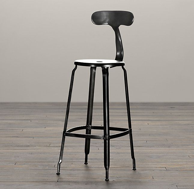 French T Back Stool Bar Stools Restoration Hardware Barstools Counter Stools